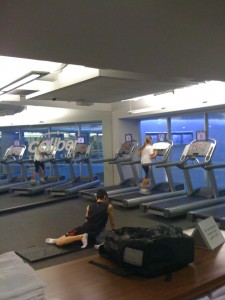 View of Some Cardio Equipment/Stretching Area