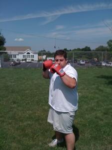 John Getting Ready for a Cardio-Based MITT Round