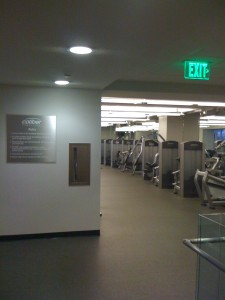 Entrance/Towel Area View into Weight Room