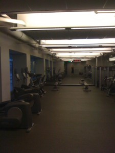 View Down Weight Room towards Dumbbell/Bench Area